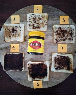 Vegemite spread on bread